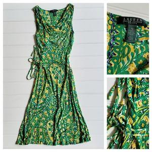 Sleeveless Cowl Neck Pullover Midi Dress